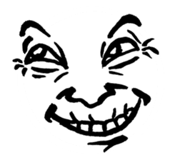 Mischievous face sticker #7183665