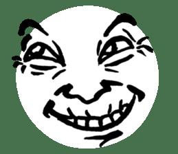 Mischievous face sticker #7183665