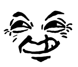Mischievous face sticker #7183666
