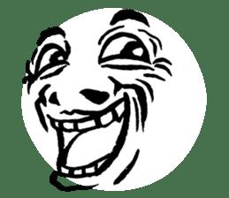 Mischievous face sticker #7183669