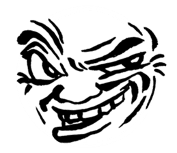 Mischievous face sticker #7183670