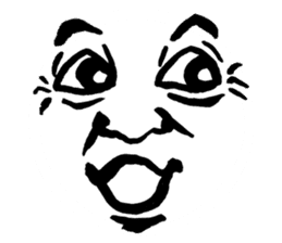 Mischievous face sticker #7183671