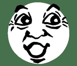 Mischievous face sticker #7183671