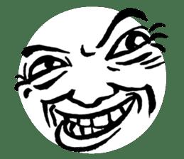 Mischievous face sticker #7183673