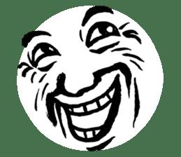 Mischievous face sticker #7183674