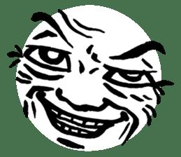 Mischievous face sticker #7183675