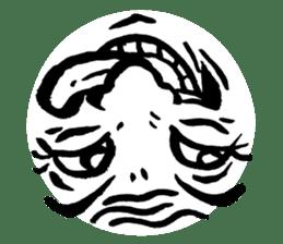 Mischievous face sticker #7183679