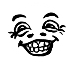 Mischievous face sticker #7183681