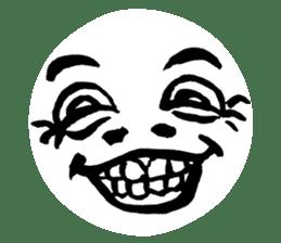 Mischievous face sticker #7183681