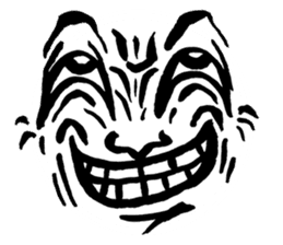 Mischievous face sticker #7183686