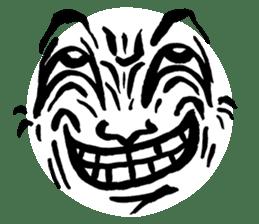 Mischievous face sticker #7183686