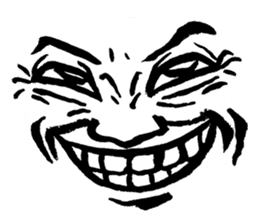 Mischievous face sticker #7183689
