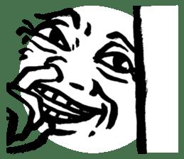 Mischievous face sticker #7183697