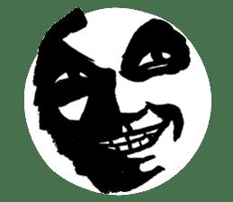 Mischievous face sticker #7183702