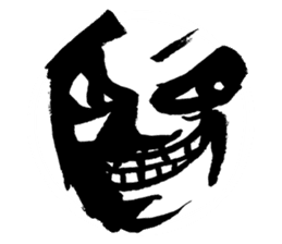 Mischievous face sticker #7183703