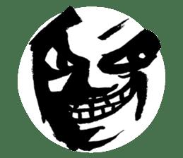 Mischievous face sticker #7183703