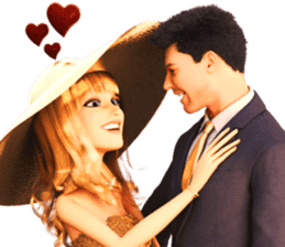 The Gorgeous Couple in Love sticker #8066757