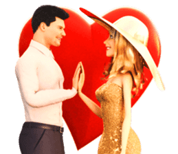 The Gorgeous Couple in Love sticker #8066768