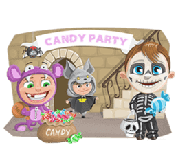 Trick-or-Treat! Halloween Party sticker #8212287