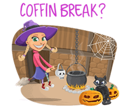 Trick-or-Treat! Halloween Party sticker #8212288