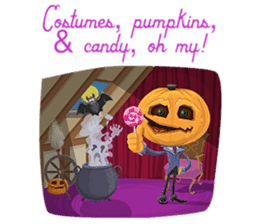 Trick-or-Treat! Halloween Party sticker #8212289