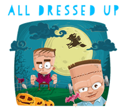 Trick-or-Treat! Halloween Party sticker #8212295