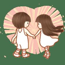 Love, Forever U & Me sticker #8943462