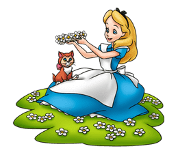 Alice in Wonderland sticker #21589