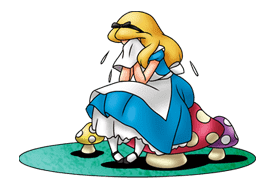 Alice in Wonderland sticker #21599