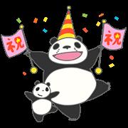 สติ๊กเกอร์ไลน์ Panda! Go, Panda!