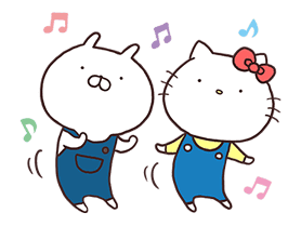 Hello Kitty × Usamaru sticker #13455195