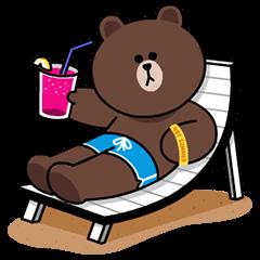 LINEキャラ★Happy Holiday | StampDB - LINEスタンプランキング