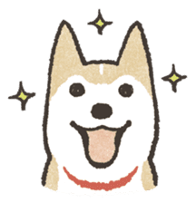 Shiba Inu (Shiba-Dog) stamps sticker #96516
