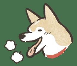 Shiba Inu (Shiba-Dog) stamps sticker #96517