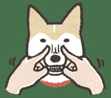 Shiba Inu (Shiba-Dog) stamps sticker #96524