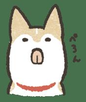 Shiba Inu (Shiba-Dog) stamps sticker #96528