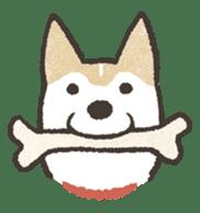 Shiba Inu (Shiba-Dog) stamps sticker #96541