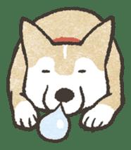 Shiba Inu (Shiba-Dog) stamps sticker #96543