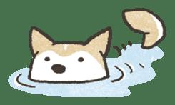Shiba Inu (Shiba-Dog) stamps sticker #96546