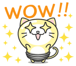 light bulb cat sticker #195369