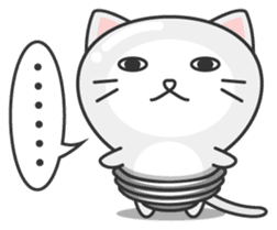 light bulb cat sticker #195382