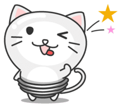 light bulb cat sticker #195398