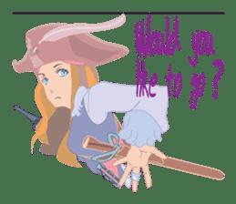 Mary Pirates_W sticker #7562725