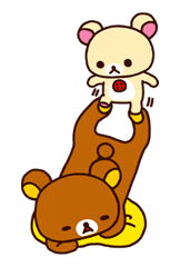 Rilakkuma: Good Friends sticker #21829