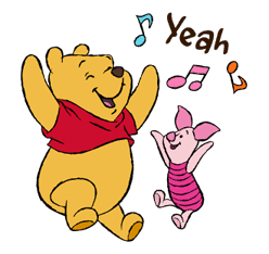 Pooh and Friends sticker #18020
