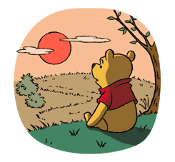 Pooh and Friends sticker #18030