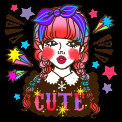 HARAJUKU-GIRL(HIGH-QUALITY sticker vol1)