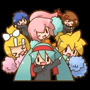 สติ๊กเกอร์ไลน์ Hatsune Miku: All Together