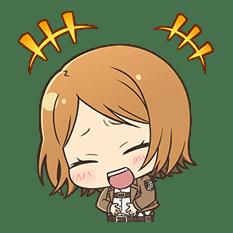 Attack on Titan Chimi-Chara Ver. sticker #47006