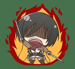 Attack on Titan Chimi-Chara Ver. sticker #47021